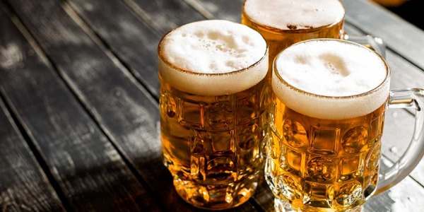 El jamón y la cerveza